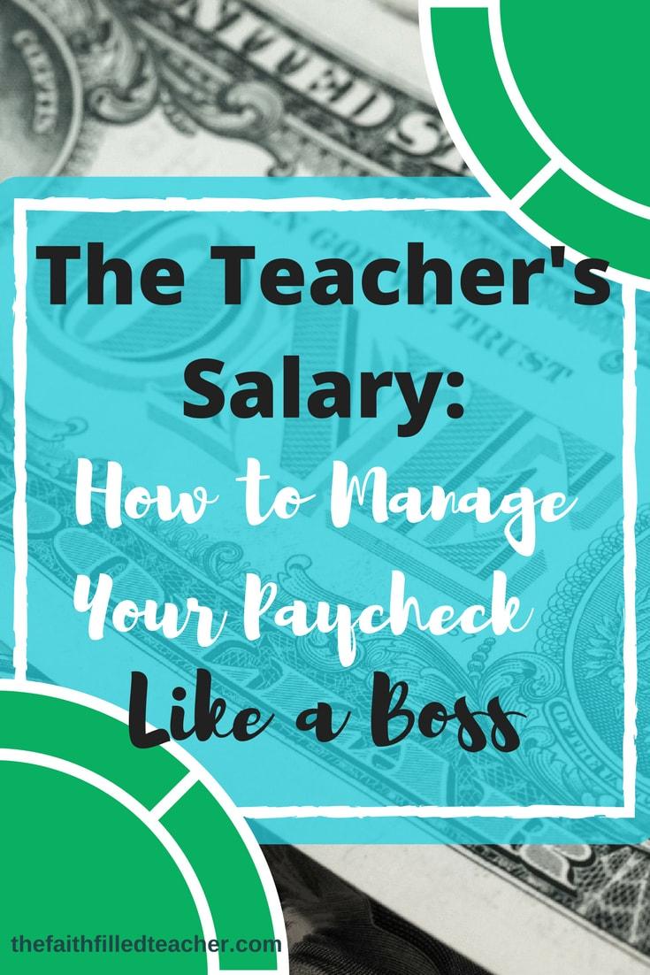 Managing Your Teacher's Salary