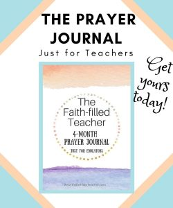 A Prayer Journal just for teachers.